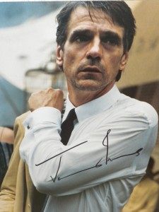 Jeremy Irons signed photo