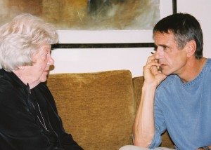 Jeremy Irons and Sister Elaine MacInnes