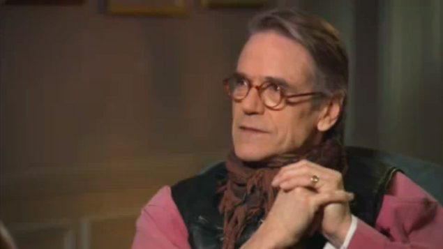 Jeremy Irons is interviewed about 'Impressionism' by Sir David on Frost Over The World