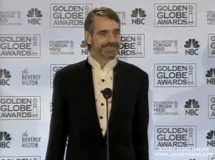 Jeremy Irons at the Golden Globe Awards