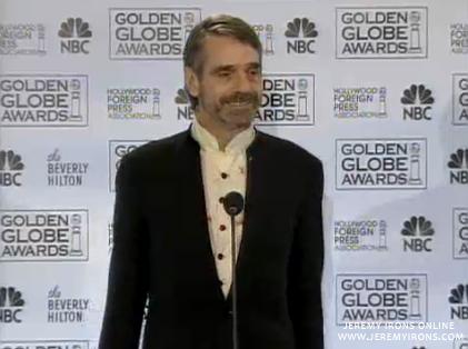 Jeremy Irons at the Golden Globe Awards