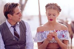 Jeremy Irons and Dominique Swain in Lolita