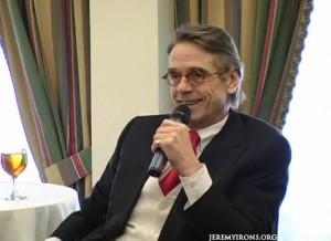 Jeremy Irons at the Hudson Union Society Luncheon