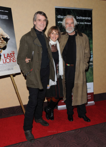 Jeremy Irons, Beverly and Derek Joubert at The Last Lions Premiere in NYC