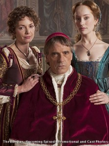 Jeremy Irons, Joanne Whalley and Lotte Verbeek - The Borgias