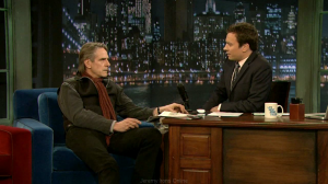 Jeremy Irons on Late Night with Jimmy Fallon - Screen Captures