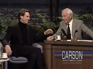 Screen Captures of Jeremy Irons on The Tonight Show with Johnny Carson - 1992