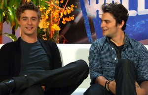 Max Irons and Shiloh Fernandez at the Young Hollywood Studios