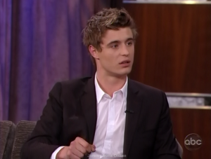 Screen captures of Max Irons on Jimmy Kimmel Live