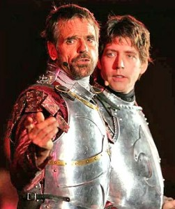 Jeremy Irons and James Barbour in 'Camelot' at the Hollywood Bowl in 2005