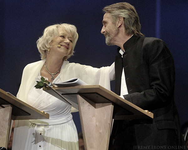 Jeremy Irons and Helen Mirren at the BlackCreek Summer Music Festival