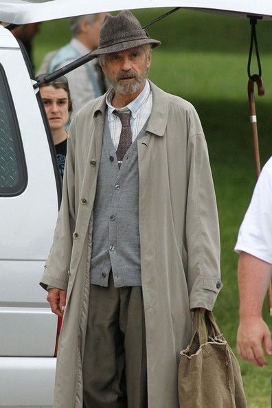 Jeremy Irons and Bradley Cooper on the set of The Words in Montreal, Canada