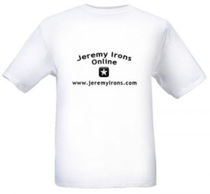 Jeremy Irons Online t-shirt