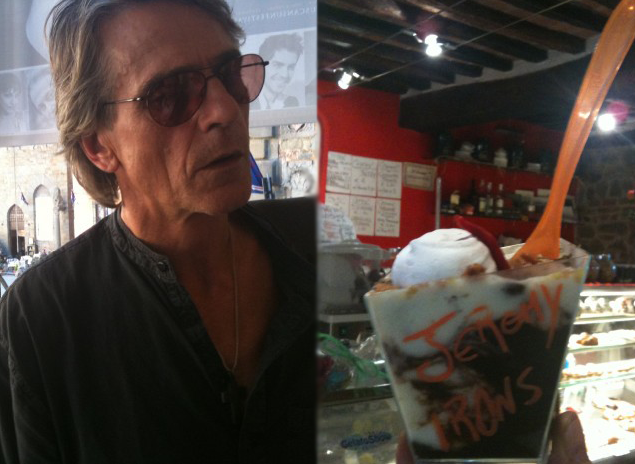 Ice cream named after Jeremy Irons to benefit 1billionhungry campaign