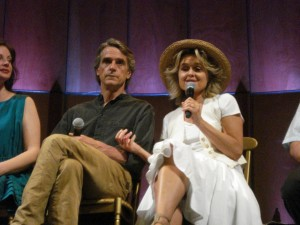Jeremy Irons and Sinéad Cusack in Cortona for The Tuscan Sun Festival