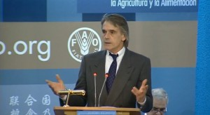 Jeremy Irons named Goodwill Ambassador for FAO at World Food Day 2011