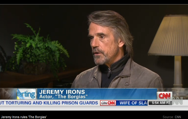 Jeremy Irons on CNN Starting Point